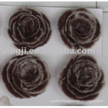 China supplier real rex rabbit fur flowers