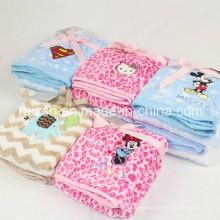 Flannel brodé printemps et automne et hiver bébé nouveau-né couverture