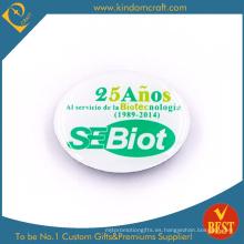 Insignia al por mayor modificada barata impresa barata del Pin del metal de la biotecnología de China