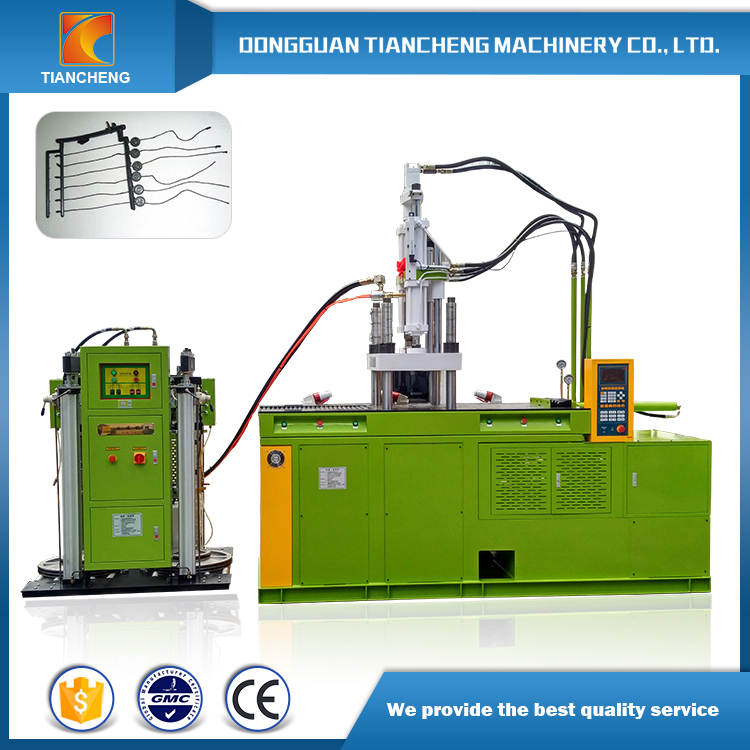 Double Sliding Table Vertical Injection Machine