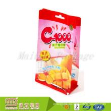 Top Qualität bunte Design Custom Print klar Kunststoff BOPP Candy Square Bottom Zwickel Tasche