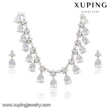 63938 Xuping Wunderschönes Luxus-Schmuckset Farbe rhodiniert Brautschmuckset