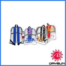 Bright colored trims school clear backpack