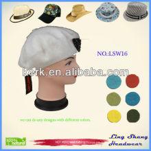 LSW16 Ningbo Lingshang Fashion Custom Snapback Sombrero de invierno de lana al por mayor