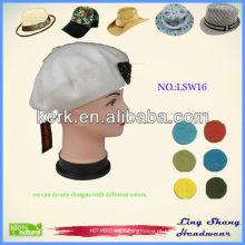 LSW16 Ningbo Lingshang Moda Custom Snapback Atacado chapéu de inverno de lã
