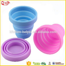 Eco Friendly Non Toxic Travel Items Silicone Telescopic Cup