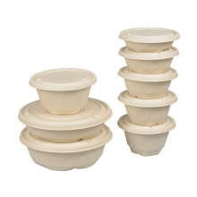 New Arrival  in USA &Europe market bagasse pulp lunch box 300ml 500ml 750ml 1000ml 2500ml with lid