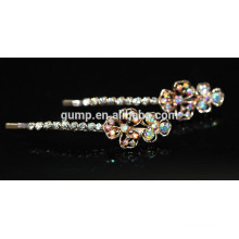 Floral Design Rhinestone brillant charmant Barrette Bobby pin