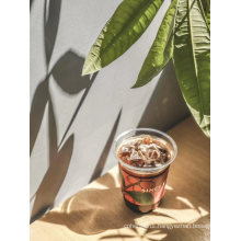 Stylish Customed Disposable Transparent PE Cup for Juice Tea Coffee