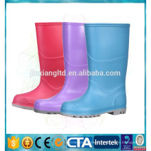 pvc waterproof footwear colorful rain boots for children