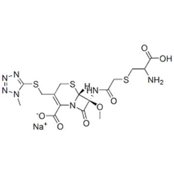 5-Thia-1-azabicyclo[4.2.0]oct-2-ene-2-carboxylicacid,7-[[2-[[(2S)-2-amino-2-carboxyethyl]thio]acetyl]amino]-7-methoxy-3-[[(1-methyl-1H-tetrazol-5-yl)thio]methyl]-8-oxo-,sodium salt (1:1),( 57261740,6R,7S)- CAS 75498-96-3