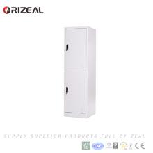 Cabinet de casiers de double rangée de meubles d'école d'acier d'Orizeal, casiers de niveau de l'acier inoxydable bon marché 2 (OZ-OLK010)