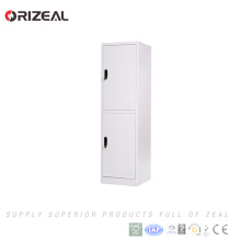 Orizeal Steel school furniture double tier lockers cabinet,cheap stainless steel 2 tier lockers(OZ-OLK010)