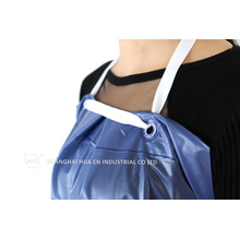 blue plastic disposable aprons for dental hospital use