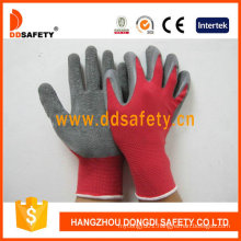 Red Nylon Grey Latex Gloves Dnl113