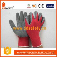 Red Nylon Grey Latex Gloves Dnl113