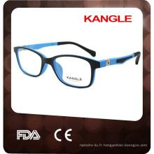 2017 nouvelle conception enfants flexible temple optique lunettes