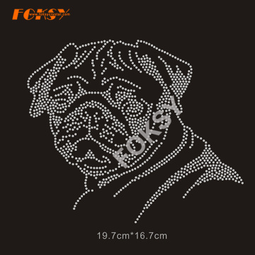 Cool T-shirts Logo Heat Transfer Dog Rhinestone