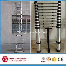 2016 escalera de bambú de la venta caliente, escalera telescópica recta, escalera telescópica de aluminio