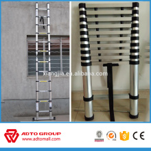 2016 hot sale bamboo ladder,straight telescopic ladder,aluminum telescopic ladder