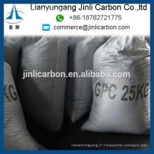 Coke de pétrole graphité / GPC pour la coulée de fer