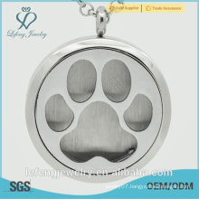 High polished cute paw magnetic Perfume locket wholesale 316L Stainless Steel perfume locket