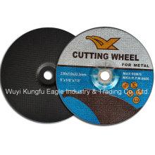 Abrasivos resina ángulo amoladora 9′′ disco de corte para Metal