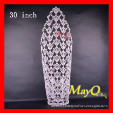 Fancy AB Crystal Queen crowns rhinestone tiara