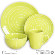 16PCS Ceramic Yellow Color Stoneware Dinner Set