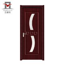 Puerta de madera compuesta del pvc exterior barato de los diseños modernos del precio de China