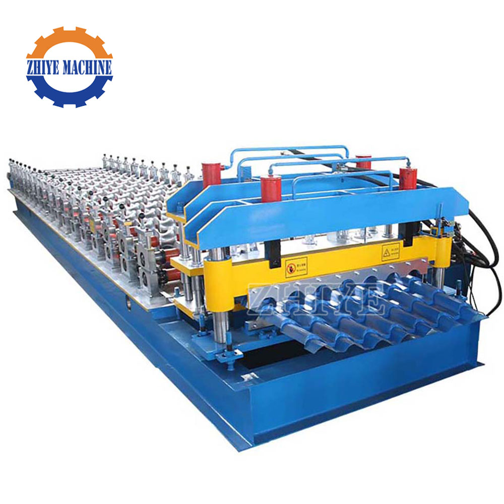 Botou glazed steel tile cold roll forming machine