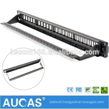 "hot sell systimax rj45 /AMP 24 port UTP 23AWG 19"" 1U /wall mounted krone IDC shielded patch panel"