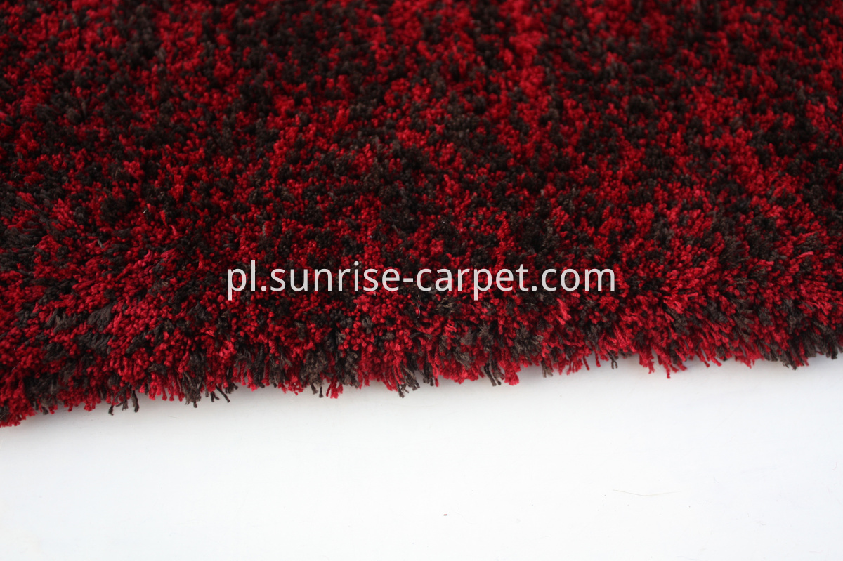 microfiber shag thin yarn red