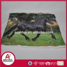 foto micromink cobertor de impressão com backside sherpa