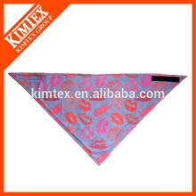Marque unique coton triangle imprimé logo bandana
