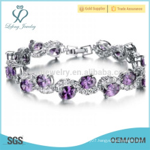 Trendy platinum diamond bracelets,womens charm bracelets jewelry