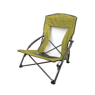2019 nuevas sillas de playa bajas portátiles de acero con recubrimiento de polvo