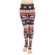Stocked cores mulheres yoga esporte moda asteca pés calças leggings