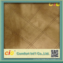Fashion Embroidery Waterproof Faux Suede Fabric