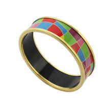 Bijoux en acier inoxydable à la mode 2014, bracelets émaillés avec des bijoux colorés massifs, émaillés