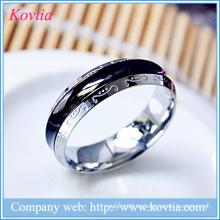 Für immer Liebe Herren Ring Titan Stahl schwarz Ring weiß Gold Metall O Ring