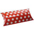 Red White Dot Glossy Pillow Box Packages