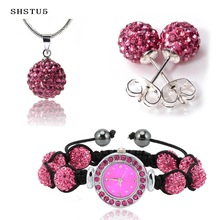 Fashion Jewelry Set (Earring and pendant, watch bracelets)