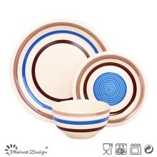 18PCS hochwertige handbemalte blaue Keramik-Dinner-Set