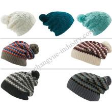 Mode Großhandel neue gestrickte Bobble Slouch Mütze