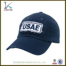 Großhandelsbaseballmützenkappen / kundenspezifischer Cowboy abgenutzt-heraus Baseballhüte / applique Logo preiswerter Hut Baseball der hohen Qualität