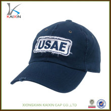 Atacado boné de beisebol chapéus / custom cowboy desgastado bonés de beisebol / applique logotipo barato de alta qualidade chapéu de beisebol