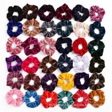 Coral Fleece Thick Scrunchies Solid Fall Winter Velvet Elastic Hair Bands Rubber for Girl Women Bun Head Tie Hair Accessories