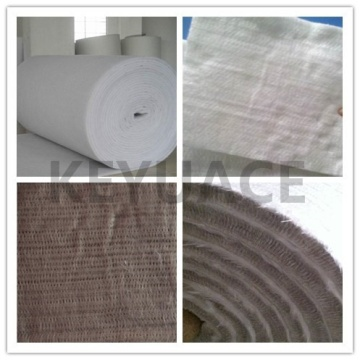 Tahan api Silica Fiber Thermal Isolasi Needle Mat