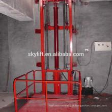 Elevador estacionário elétrico do trilho de guia da movimentação do elevador do motor